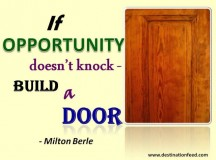 Quote for the Day: Opportunity