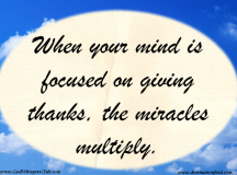 Quote for the Day: Multiply Miracles