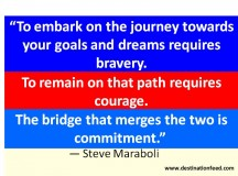 Quote for the Day: Bravery, Courage and Commitment
