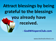 Quote for the Day: Being Grateful