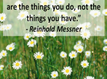 Quote for the Day: The Things You Do