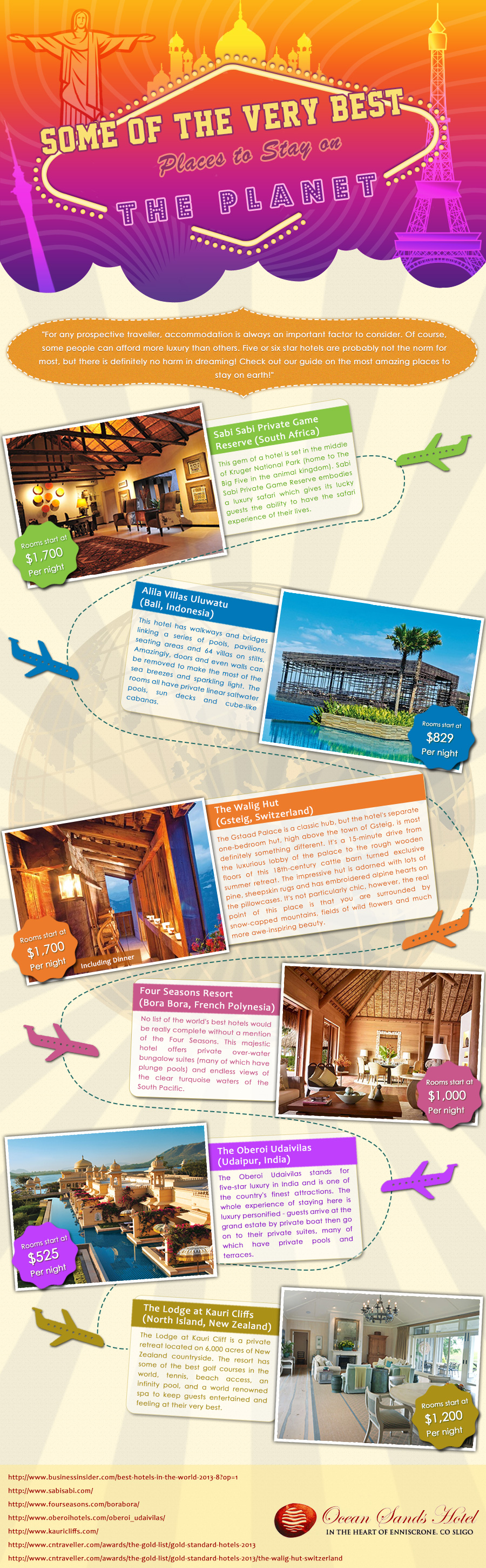 Best Places to Stay on the Planet - Infographic