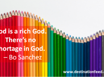 Quote of the Day: There's no shortage in God